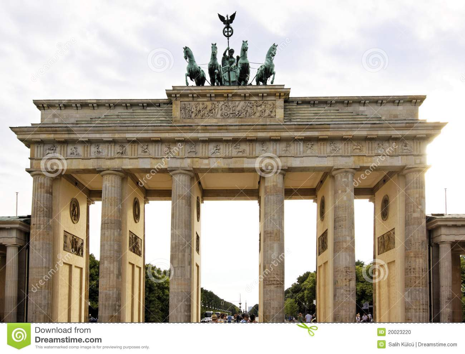 Berlin The Brandenburg Gate Stock Photo Image 20023220