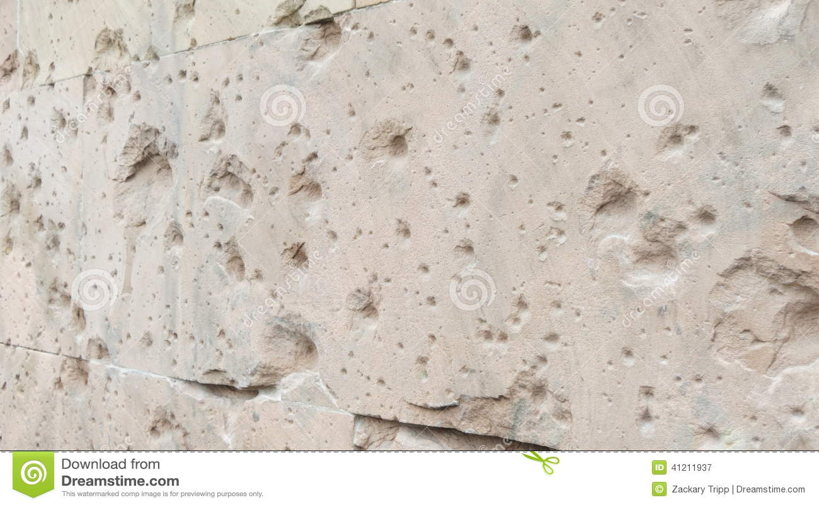 Berlin Building Bullet Holes Stock Photo Image 41211937
