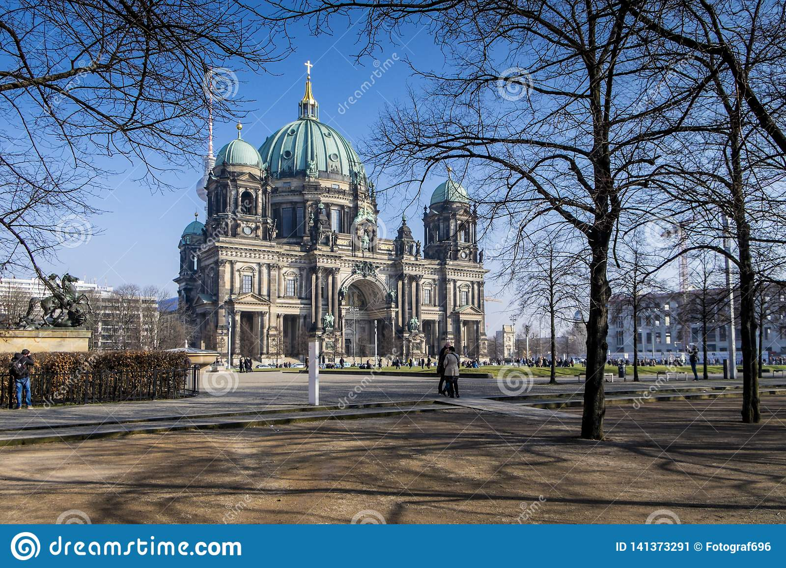 Berlin Cathedral in de winter