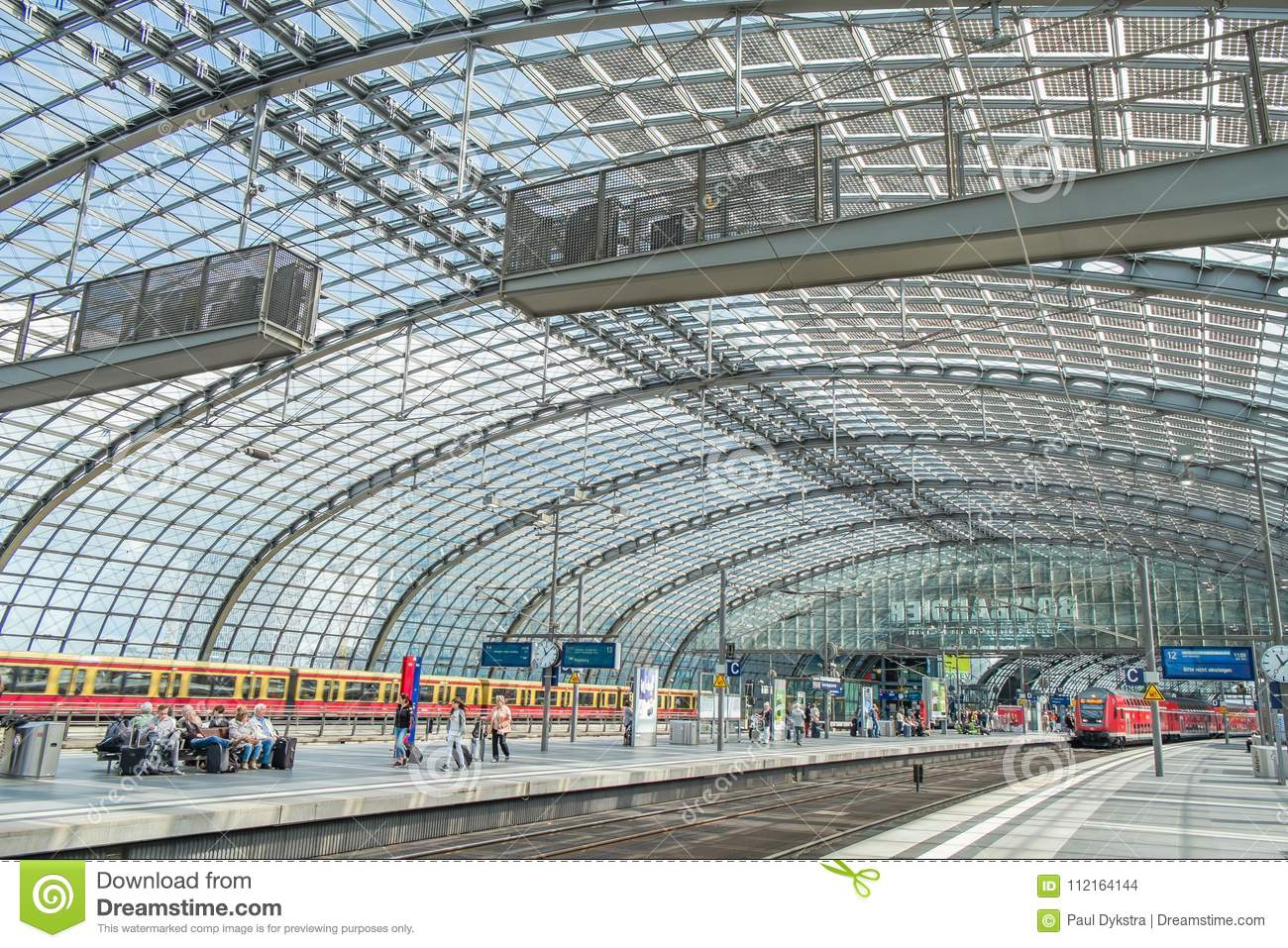 Berlin Central Train Station Germany