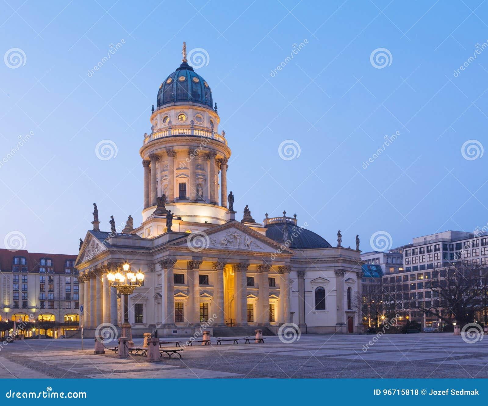 Berlin - The church Deutscher Dom on the Gendarmenmarkt square
