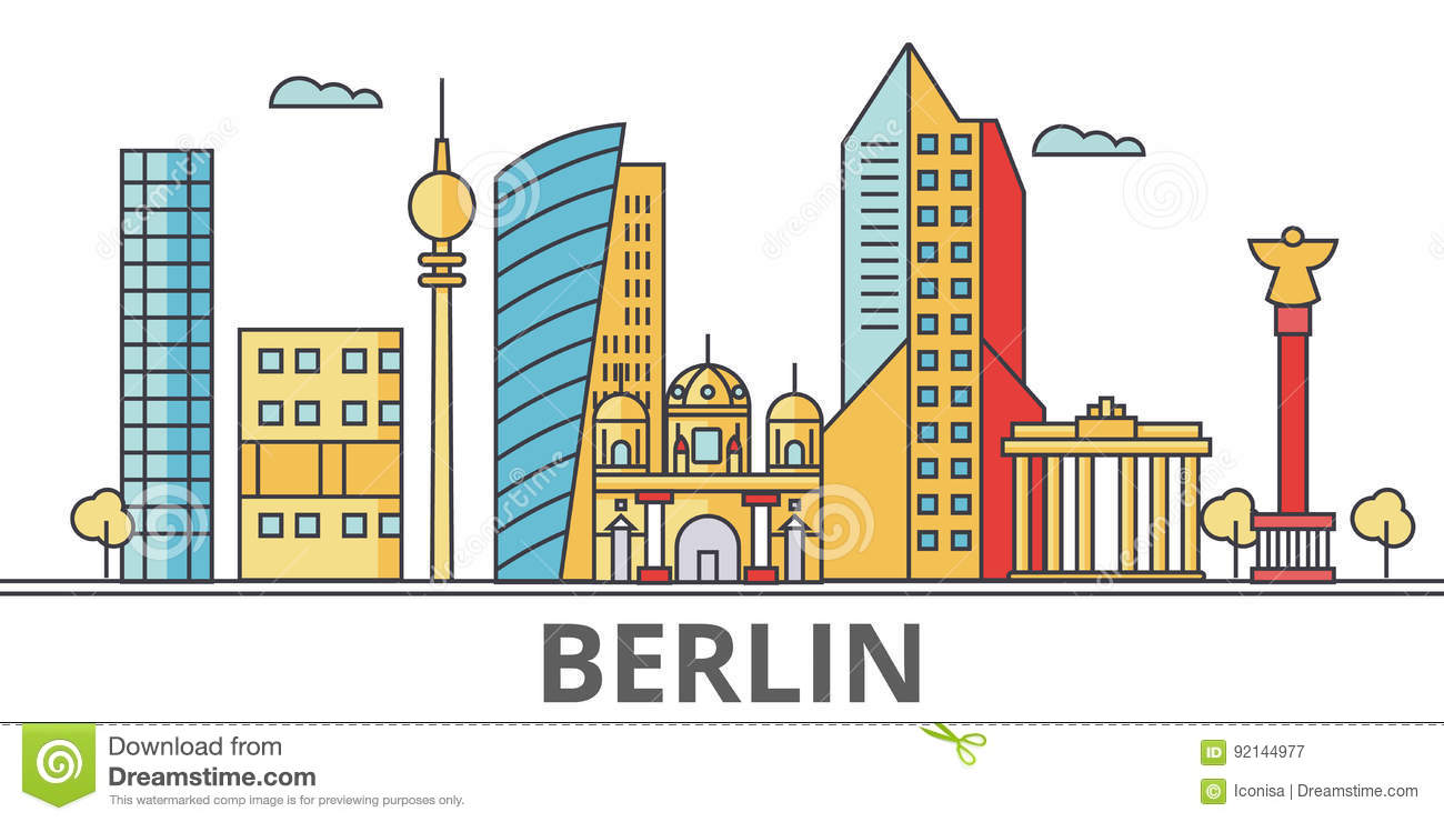 Berlin city skyline.