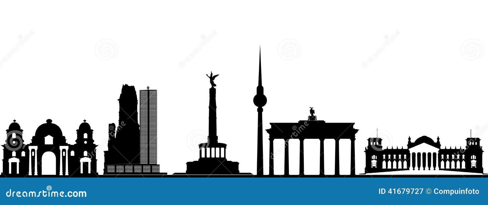 Berlin City Skyline Stock Vector Image 41679727
