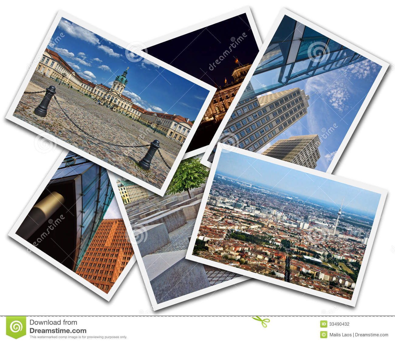 Download Berlin Collage stock photo. Image of national, modern - 33490432
