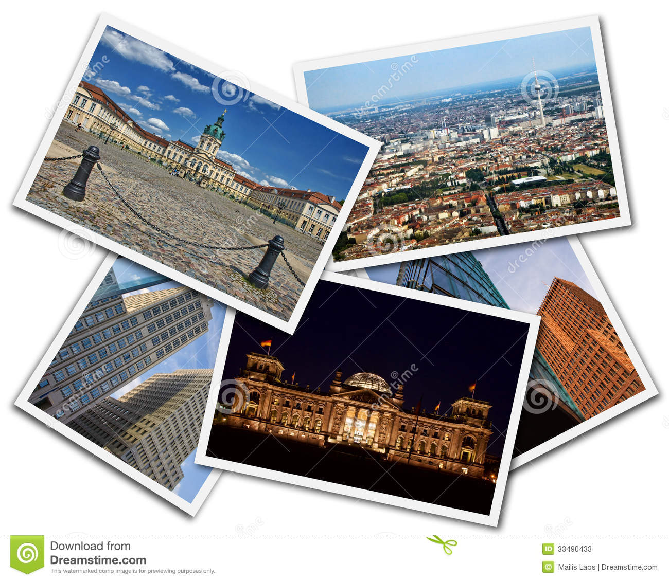 Download Berlin Collage stock image. Image of cityscape, column - 33490433