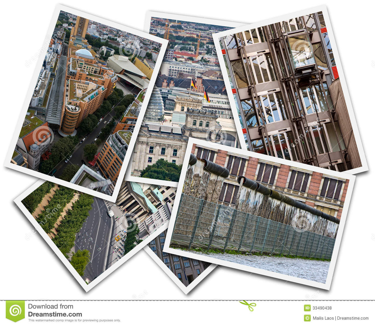 Download Berlin Collage stock photo. Image of modern, cities, germany - 33490438