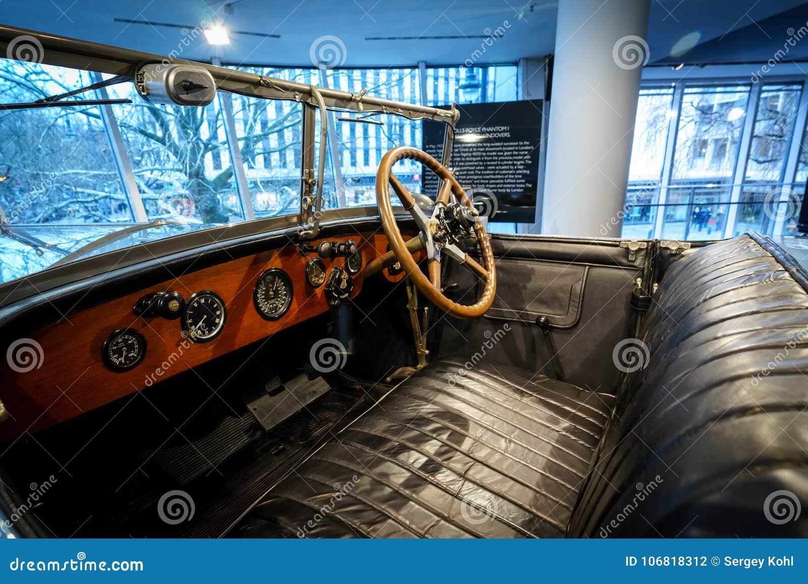Interior Of Luxury Car Rolls Royce Phantom I Open Tourer 1926 Editorial Photography Image Of British Auto 106818312
