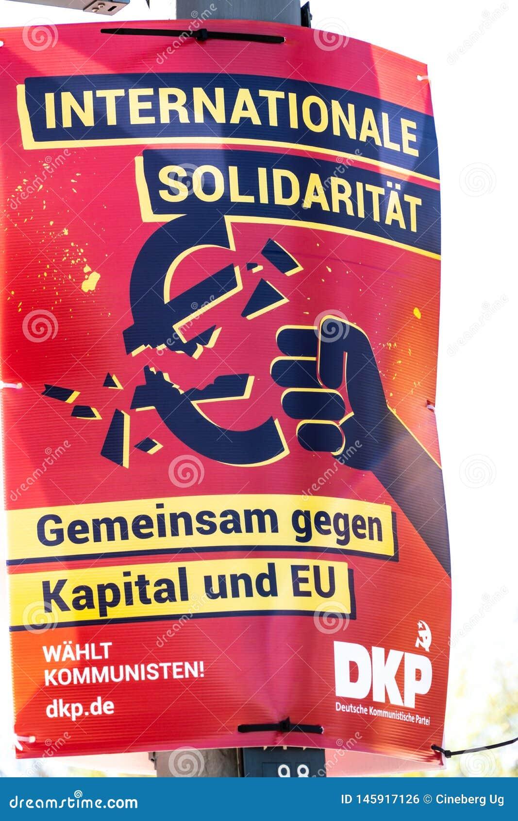 DKP political campaign poster