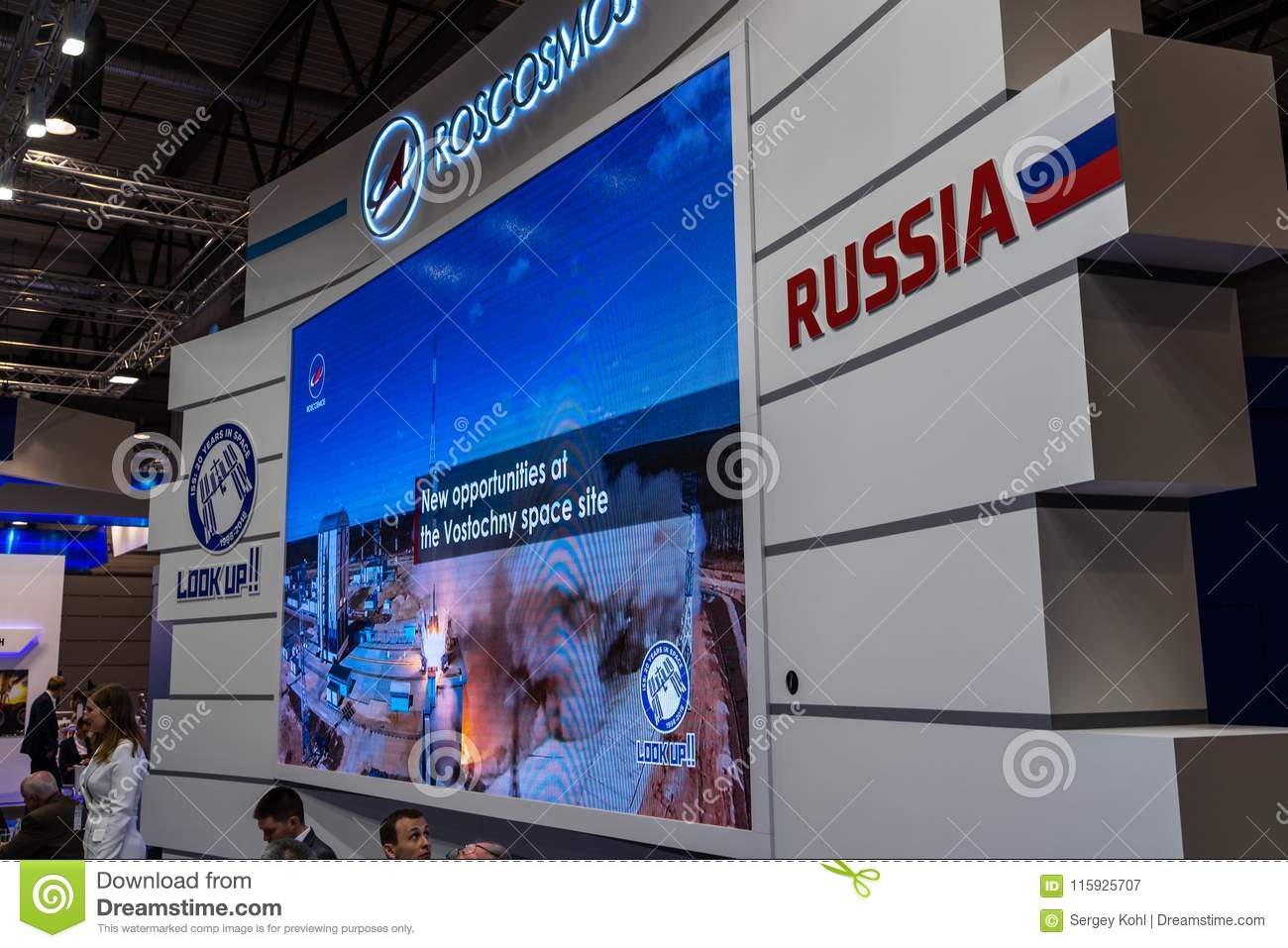 Exhibition Stand Activities : Stand of the company roscosmos roscosmos state corporation for