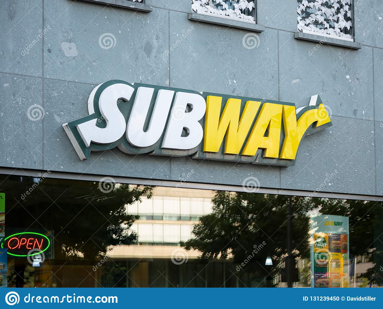 subway logo at a fast food restaurant in berlin germany