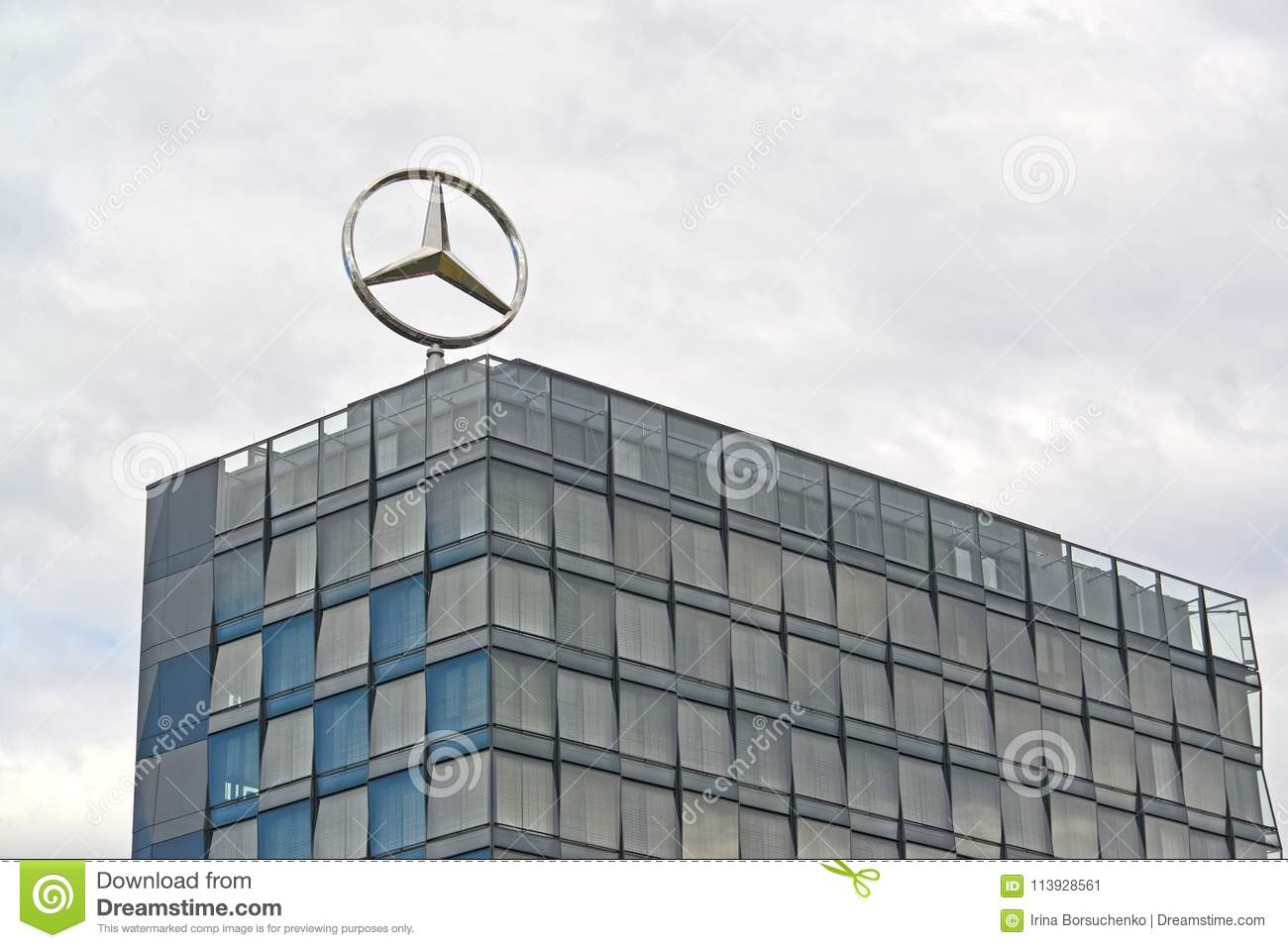 Berlin Germany An Emblem Of The Mercedes Benz Company On A Roof Of The Building Of Europa Center Editorial Photo Image Of Company Building 113928561