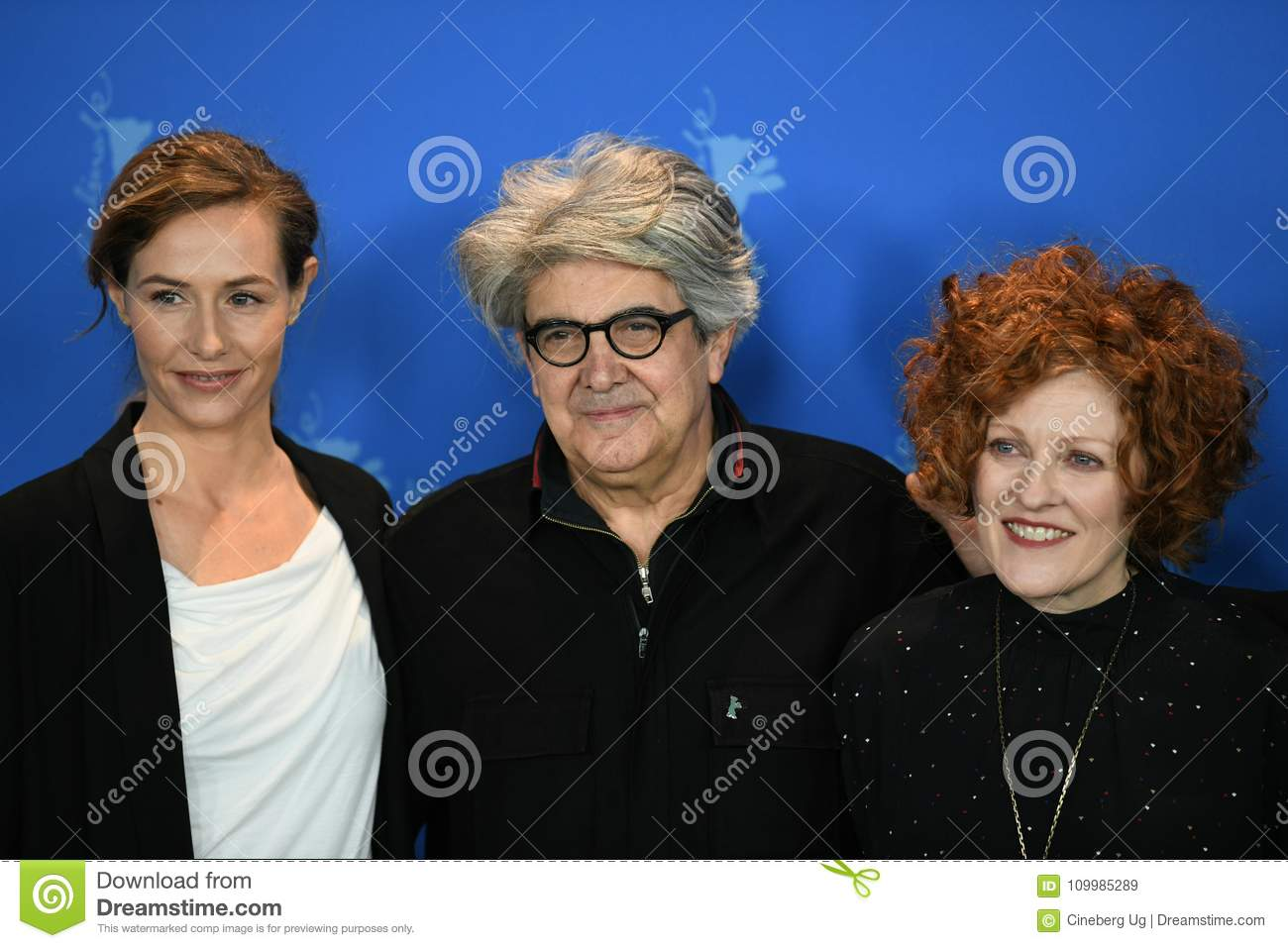 Jury members of the 68th edition of the Berlinale Film Festival 2018