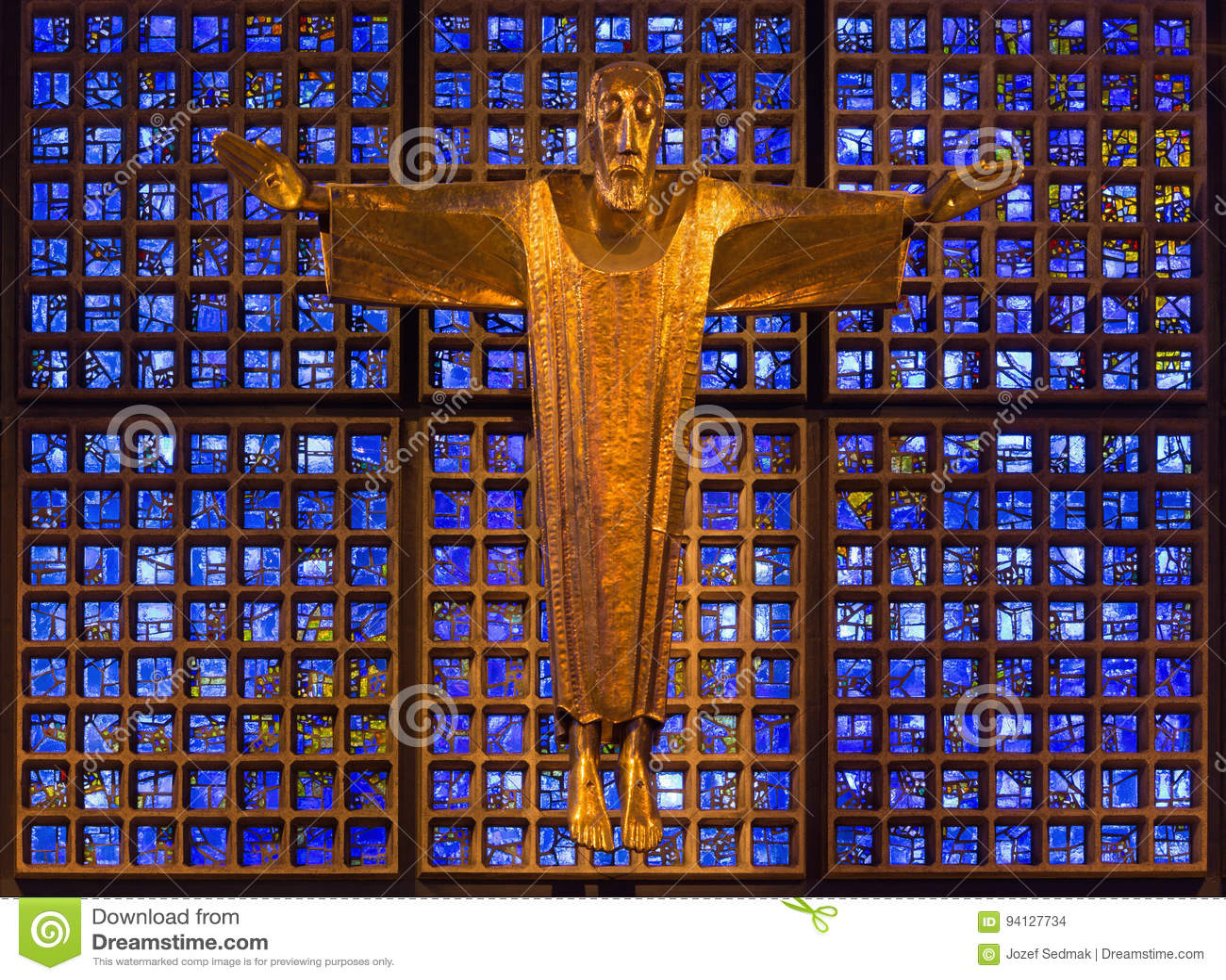 Berlin Germany February 15 2017 The Modern Jesus Christ Statue