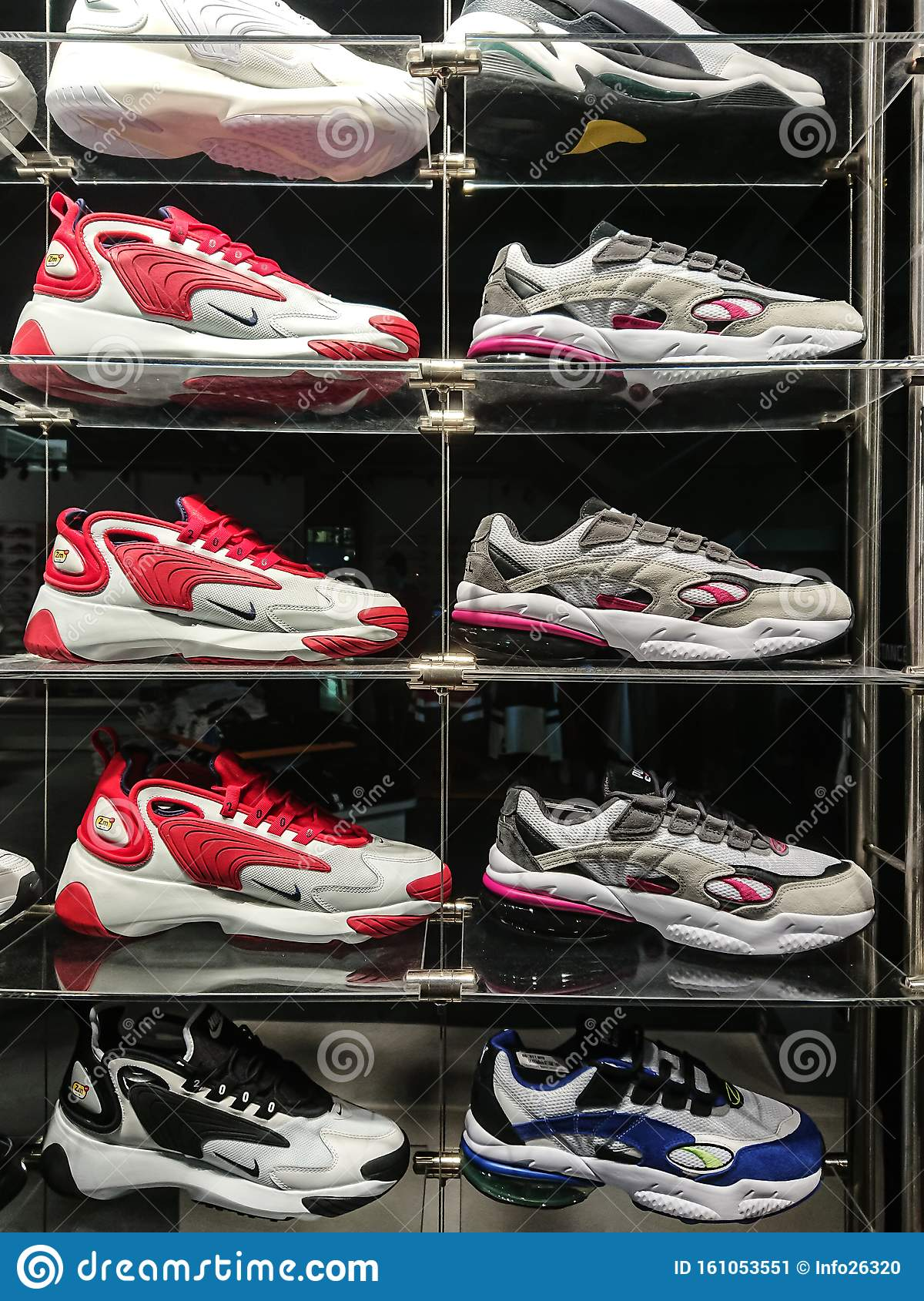 Nike Sport Shoes Displayed For Sale