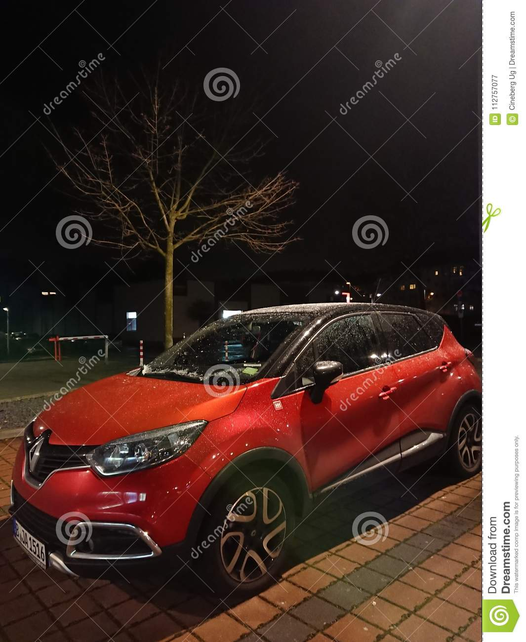 Parked Renault Car At Night Editorial Photography Image Of Design