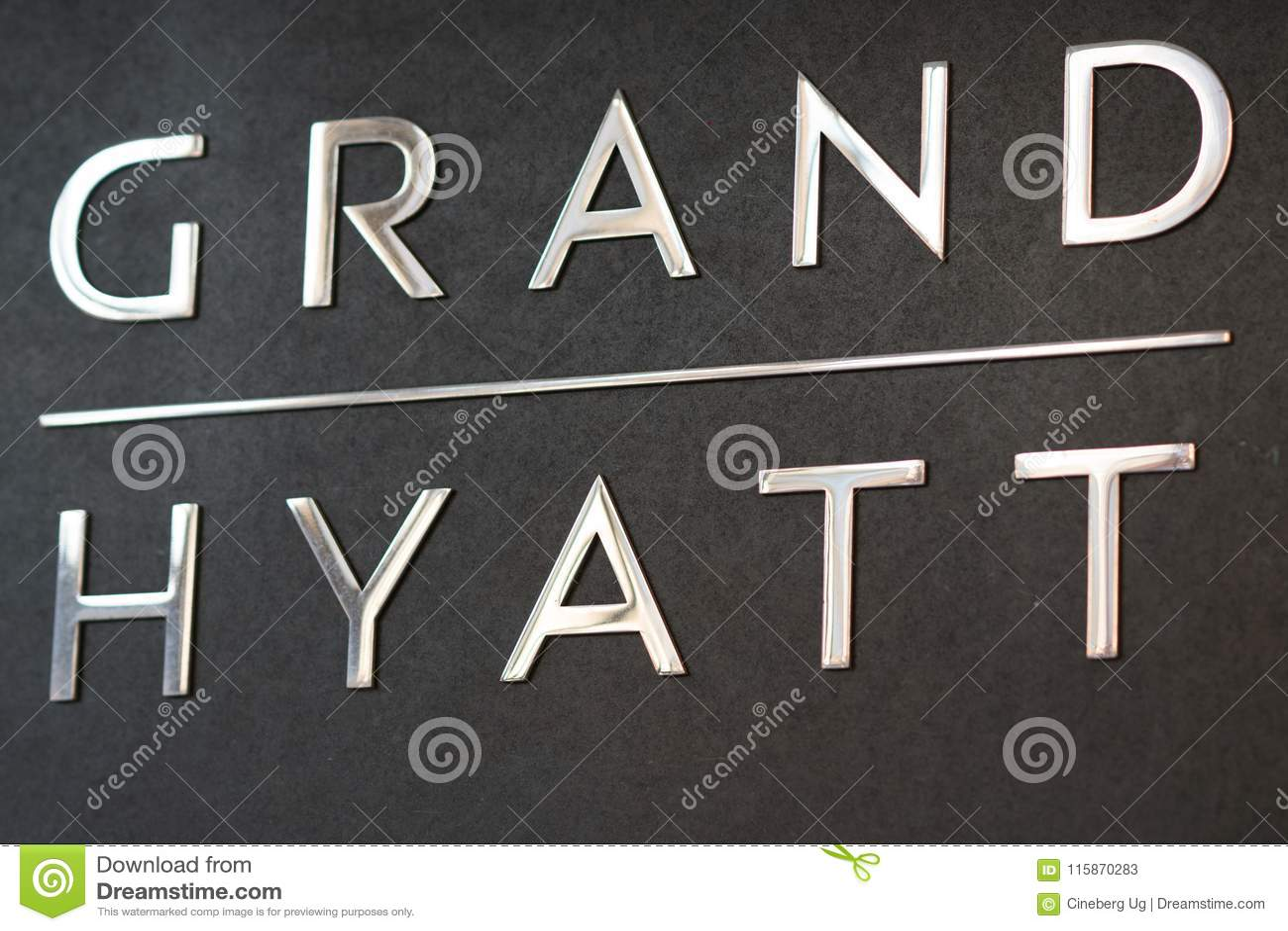 Sign Of Grand Hyatt Berlin Editorial Stock Photo Image Of Chain