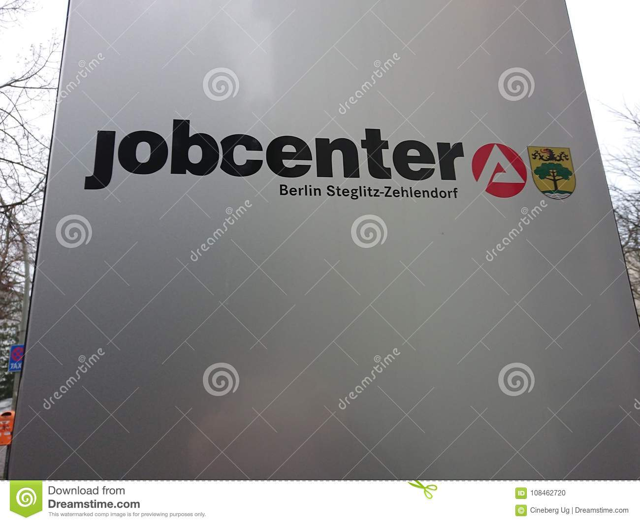 german jobcenter logo editorial image image of opportunity 108462720