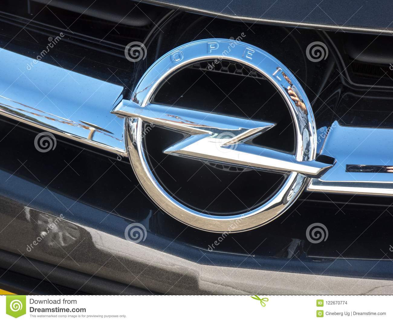 Opel Classic Car Symbol Editorial Stock Image Image Of Class
