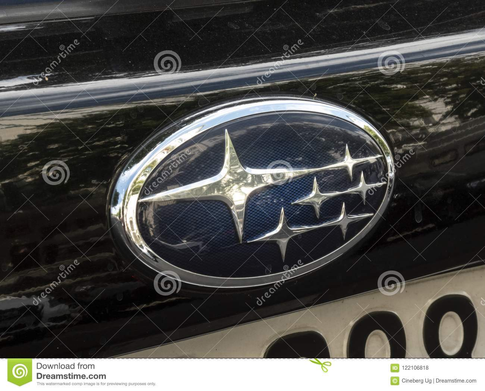 Subaru Car Emblem Editorial Stock Photo Image Of Automotive 122106818