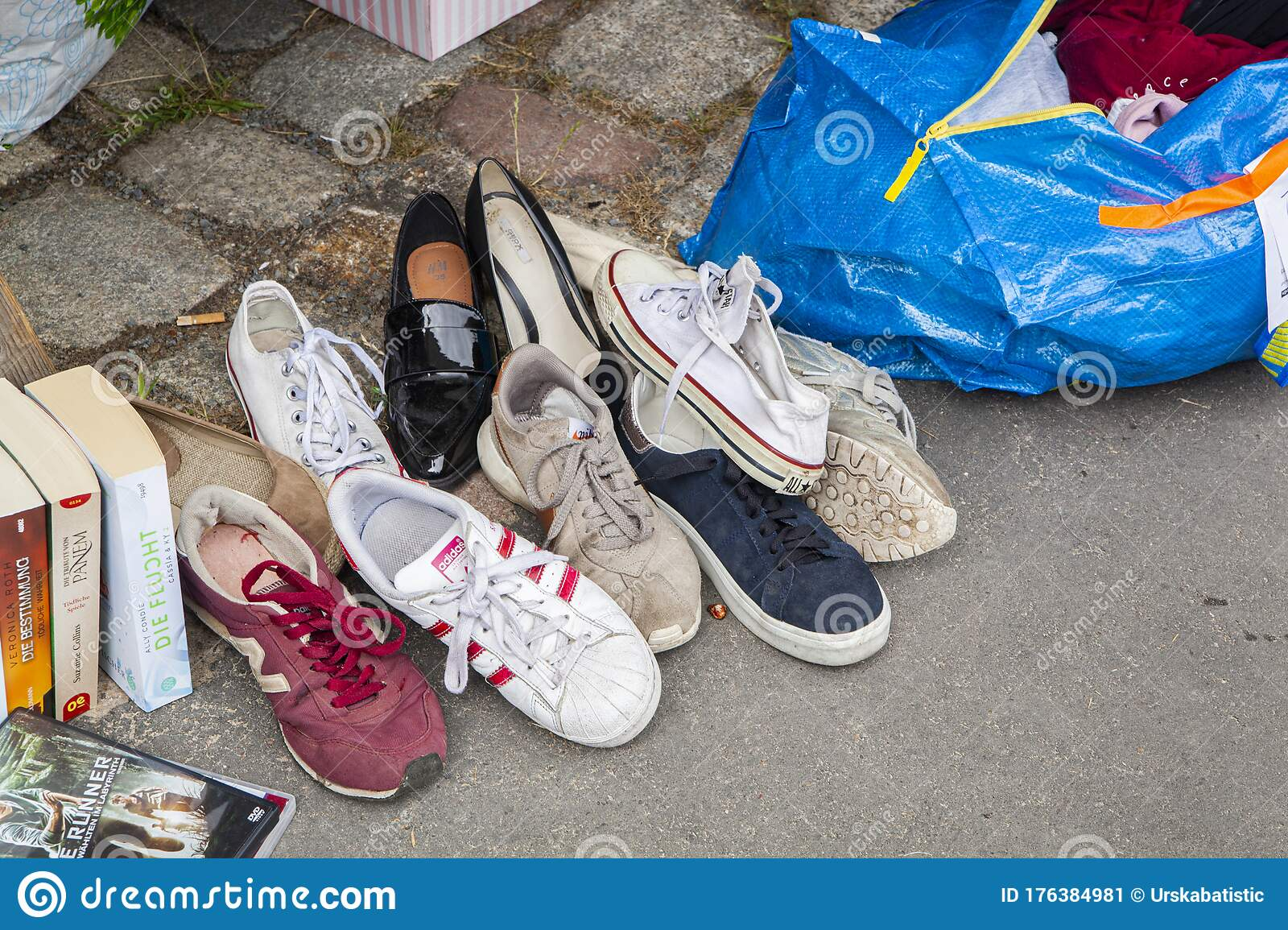 Used shoes editorial photo. Image of