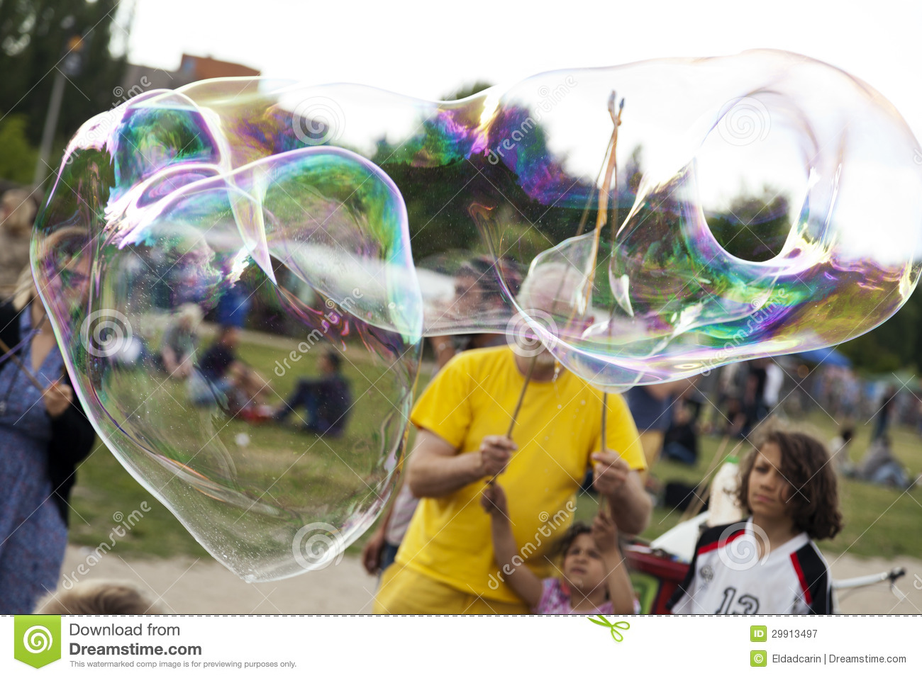 Making Soap Bubbles At Mauerpark Editorial Photography Image Of