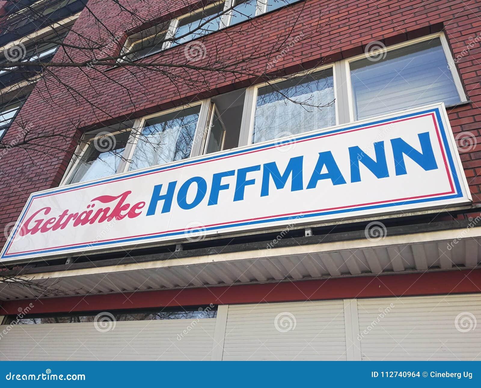 Getranke Hoffmann shop editorial stock image. Image of emblem ...