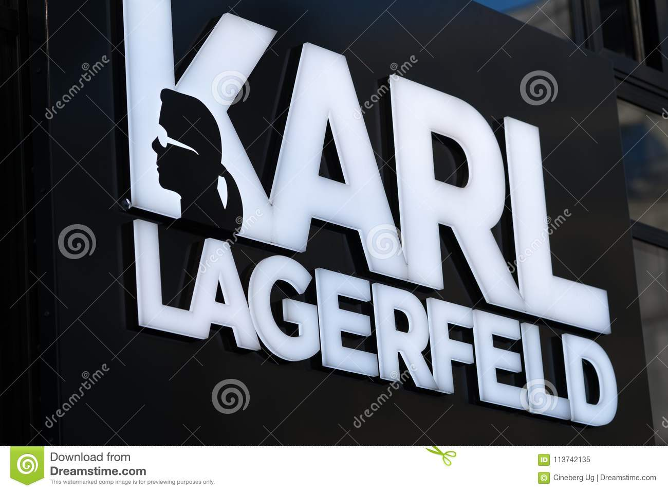 Karl Lagerfeld Sign Editorial Image Image Of Label 113742135