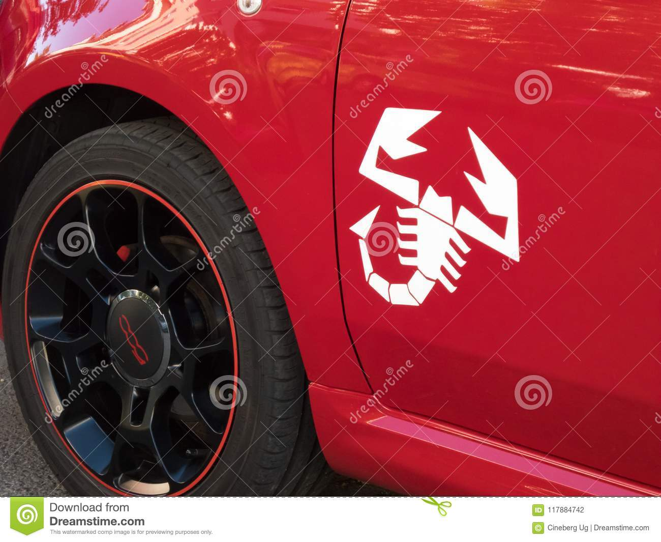 Fiat 500 Abarths Scorpion Emblem Editorial Photography Image Of