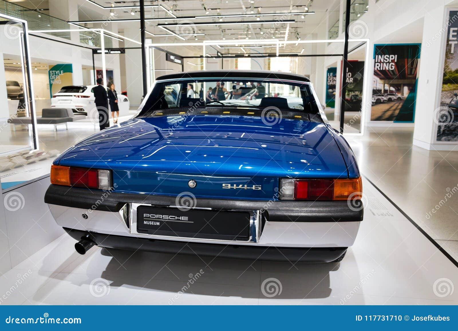 Porsche 914 6 Sports Car Standing At Volkswagen Group Forum Drive