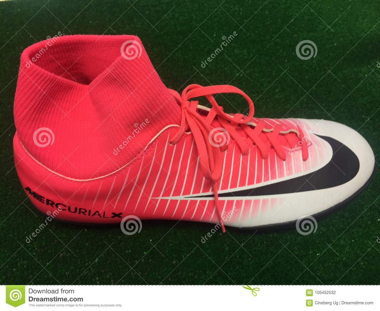 f8279f561e9 Nike Football Shoes For Sale Editorial Photography - Image of label ...