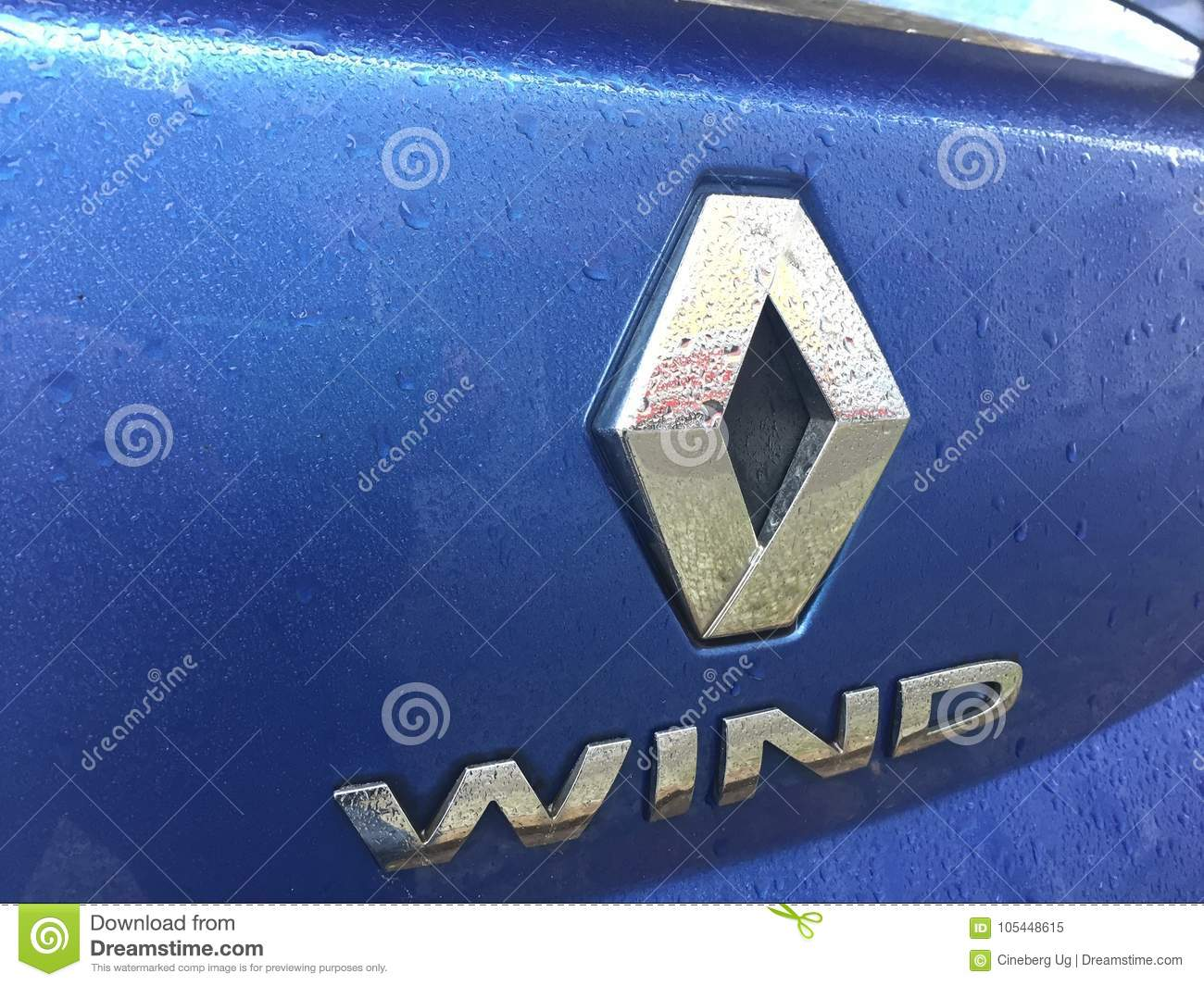 Renault Wind Car Logo Editorial Image Image Of Editorial 105448615