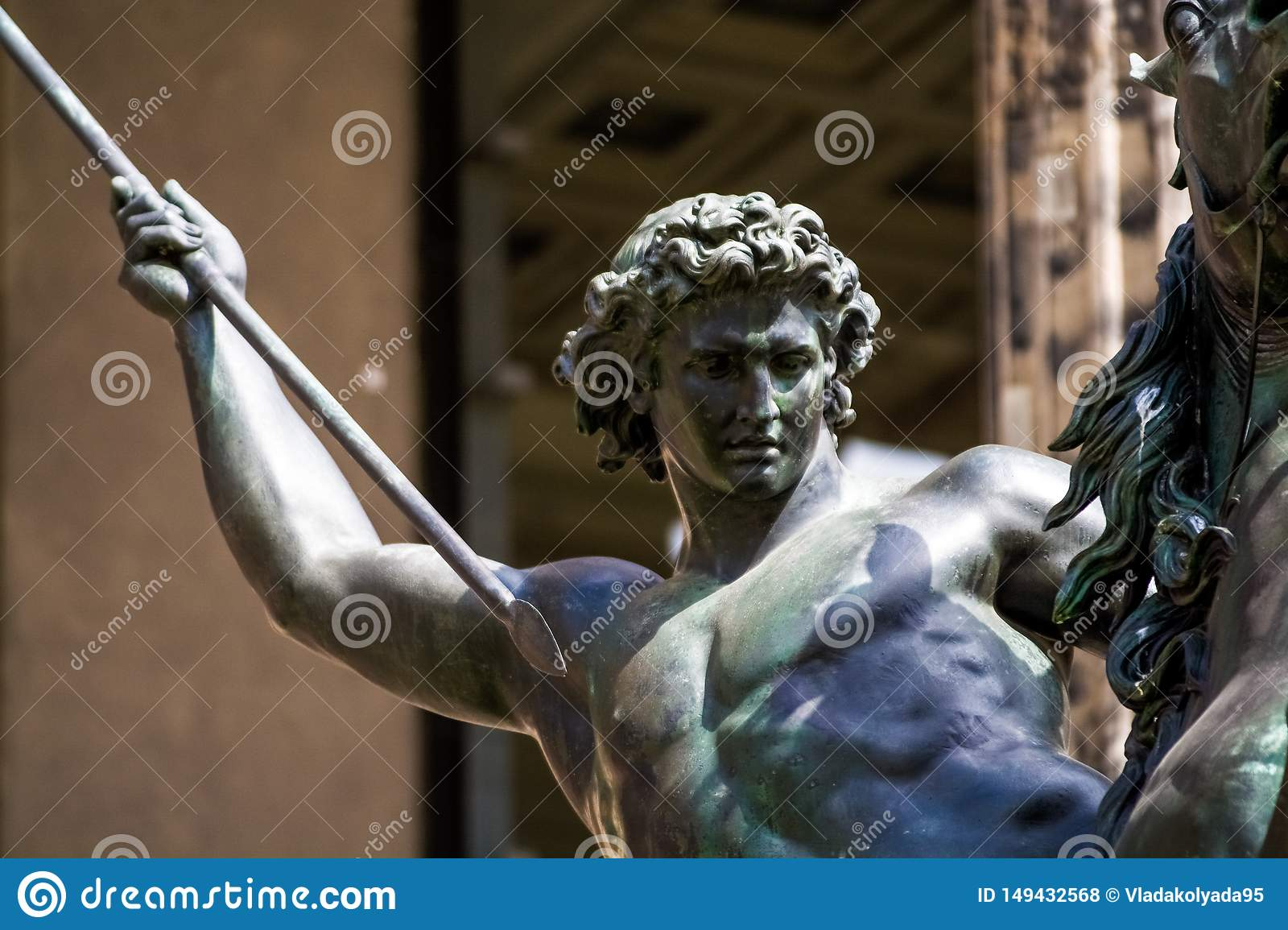 14.05.2019. Berlin, Germany. The old historical building on city streets. The historical museum with sculptures from metal on the