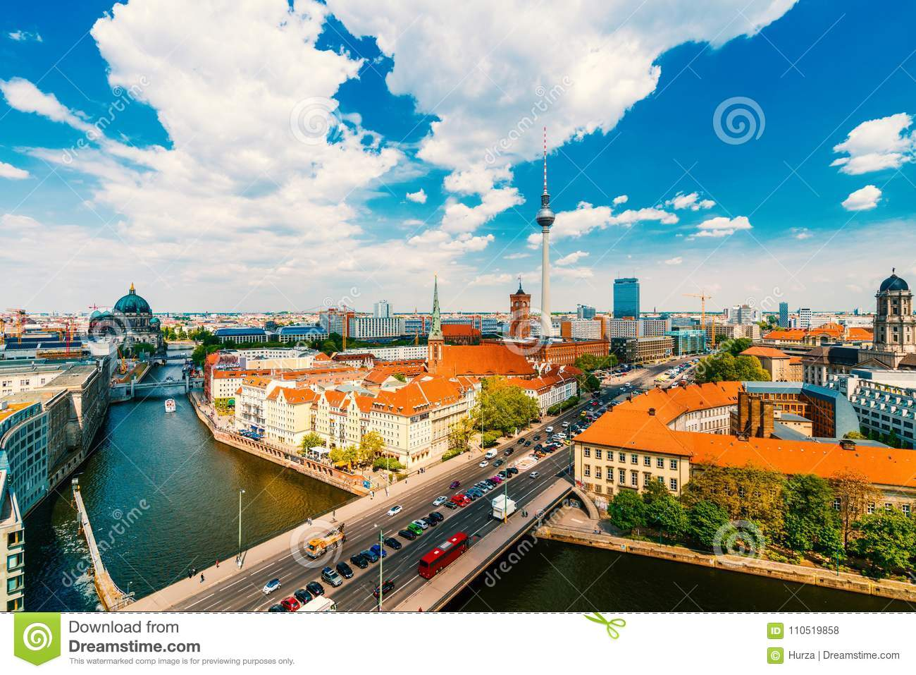 Berlin, Germany, during summer
