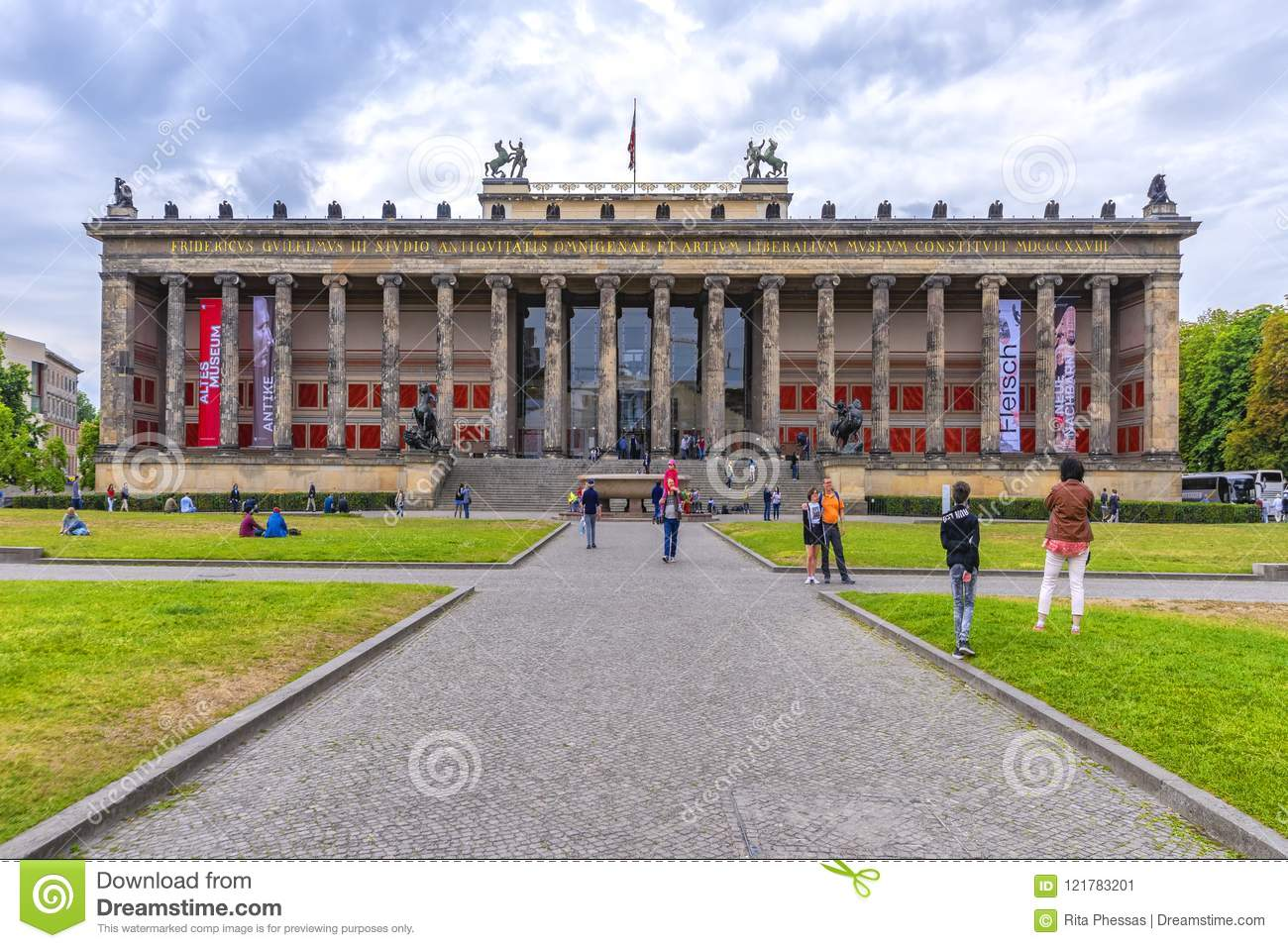 Berlin Germany 10th July 2018 Museum Island Approach Route Of Gravel With Visitors To One Of The Many Museums On The Grass Editorial Photo Image Of Island Architecture 121783201