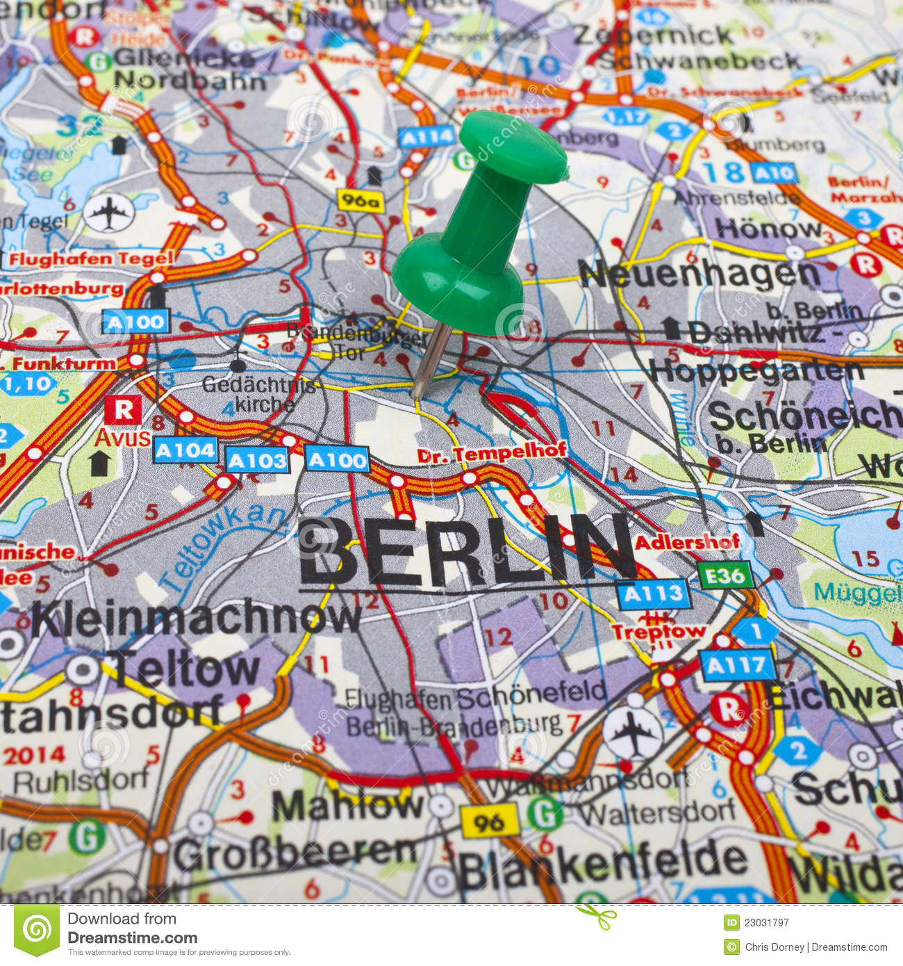 Berlin Map Stock Image Image Of Capital International 23031797