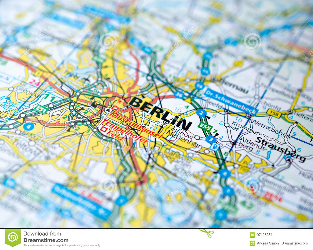 Berlin Germany World Map.Berlin On Map Stock Photo Image Of City Navigation 97136354