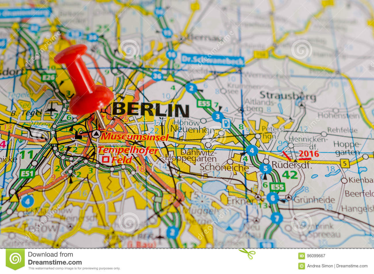 Berlin on map stock image Image of atlas route berlin 96099667