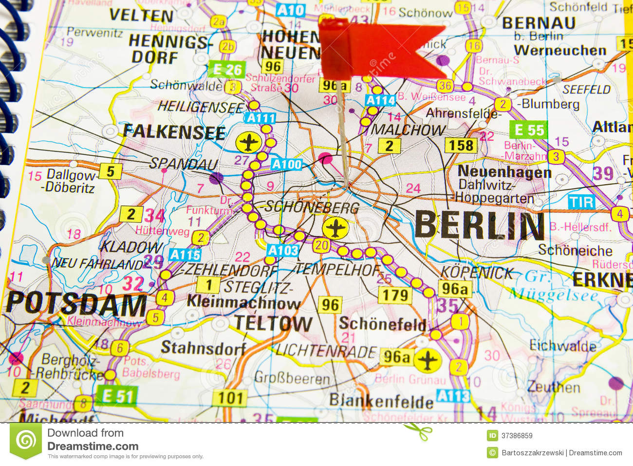 Berlin On The Map Of Germany Royalty Free Stock Images Image - Berlin map in germany