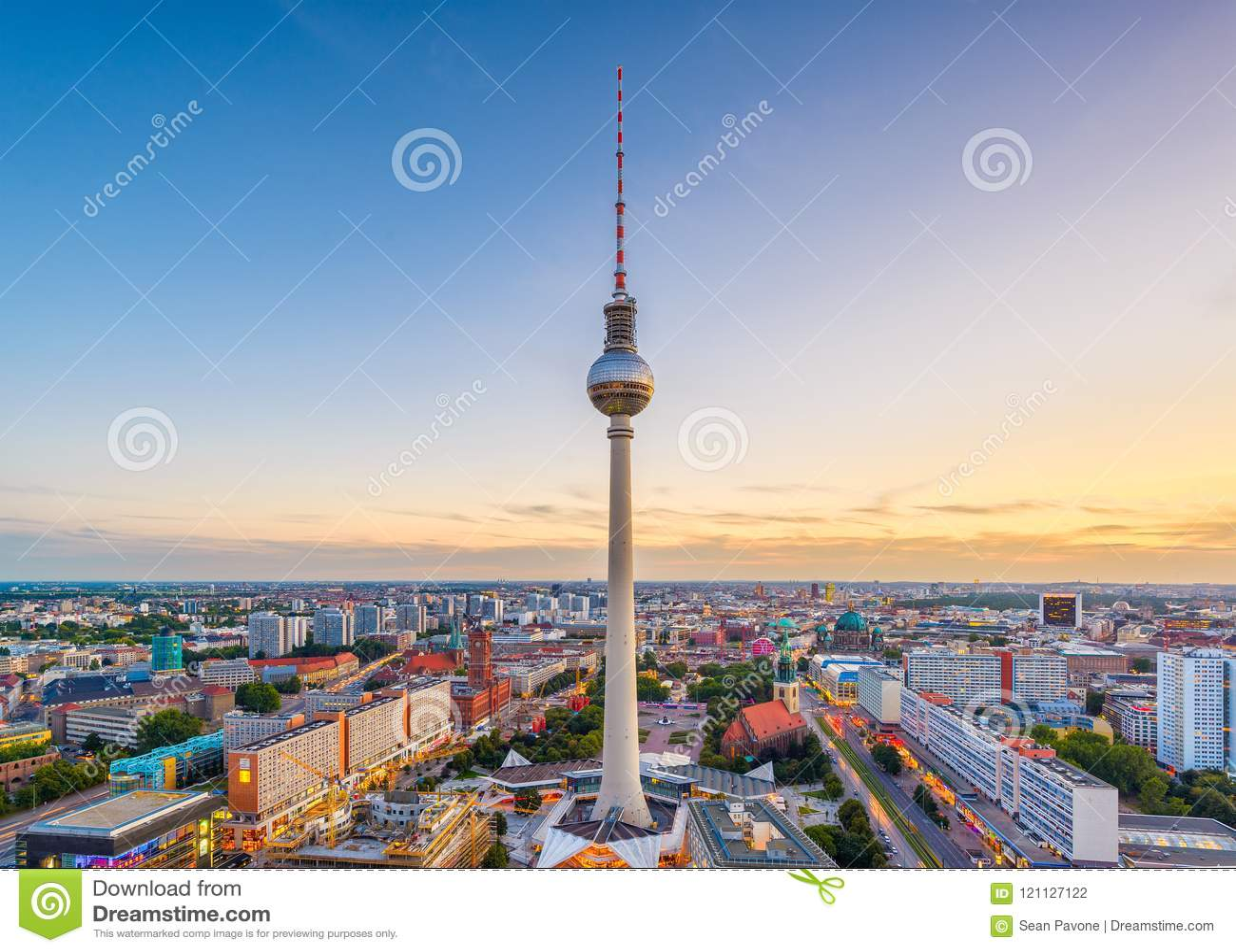 Berlin, Niemcy linia horyzontu