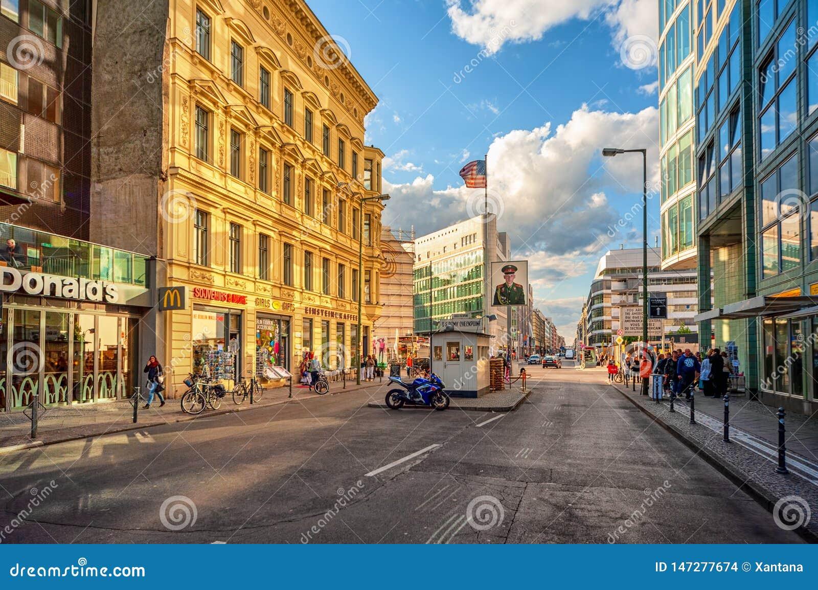 Berlin, Niemcy, punkt kontrolny Charlie
