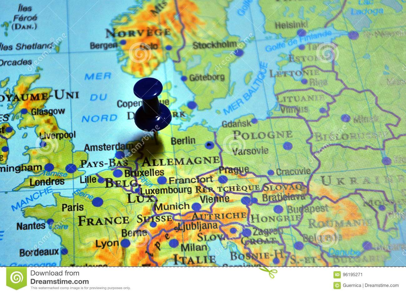 Berlin Polonge Pin Travel Destination Stock Image Image Of Pologne