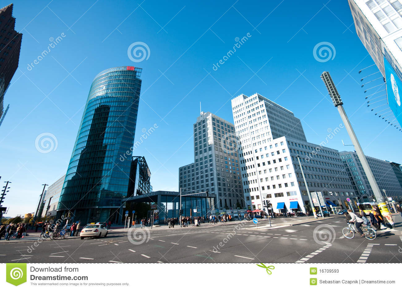 Download Berlin, Potsdamer Platz editorial stock photo. Image of sony - 16709593