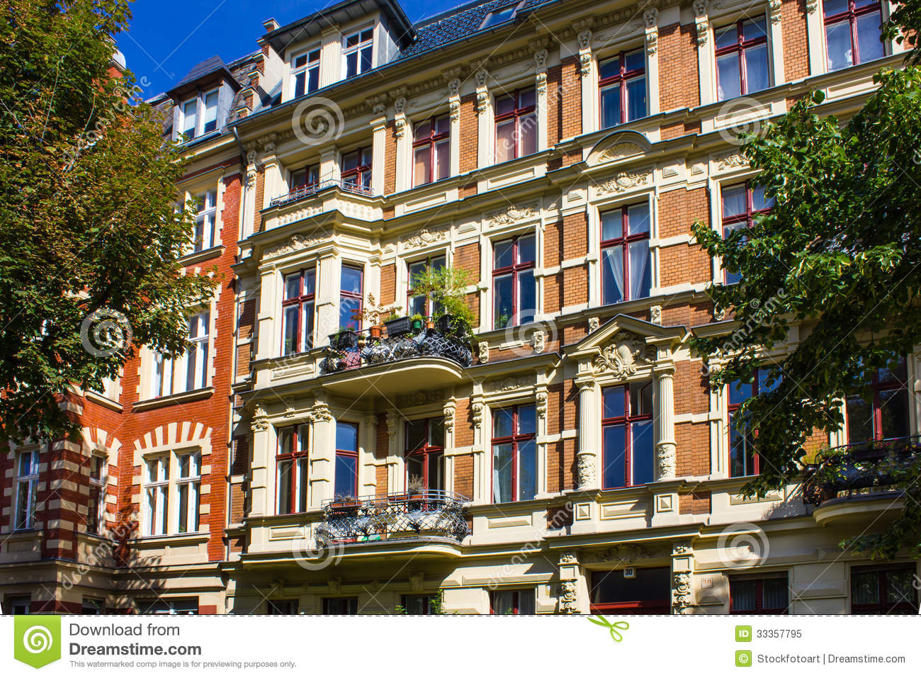 Berlin Historic Apartment House Stock Image - Image of ...