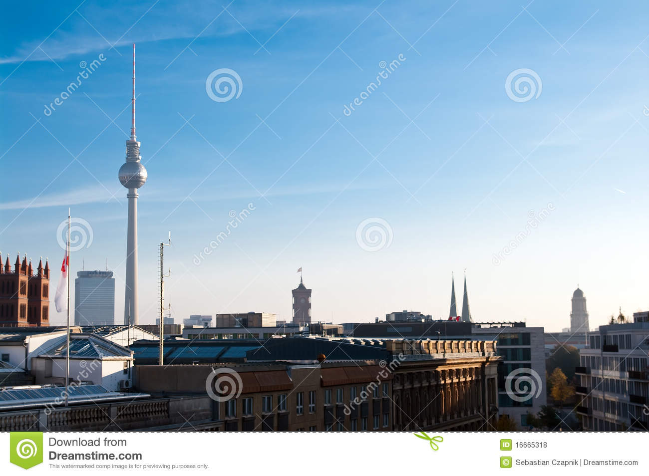berlin skyline lizenzfreie stockfotos bild 16665318. Black Bedroom Furniture Sets. Home Design Ideas