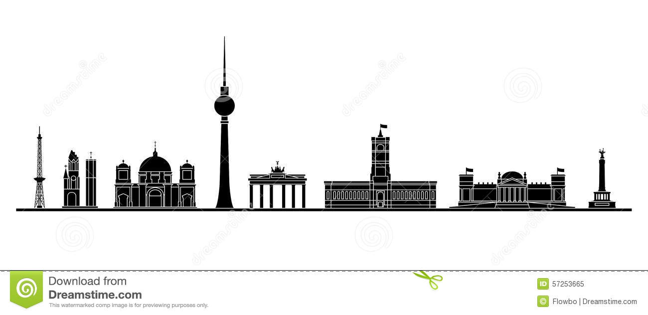 berlin skyline vektor abbildung illustration von halle 57253665. Black Bedroom Furniture Sets. Home Design Ideas