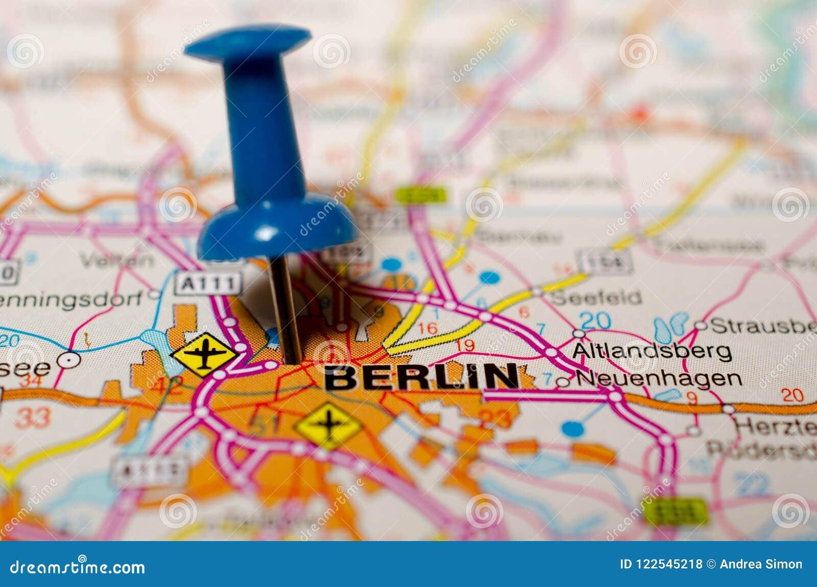 Berlin sur la carte