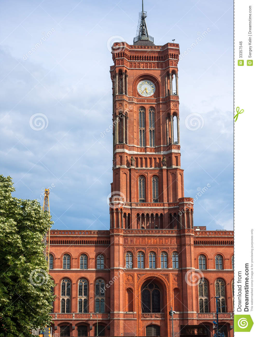 berlin town hall rathaus in germany stock photo image. Black Bedroom Furniture Sets. Home Design Ideas