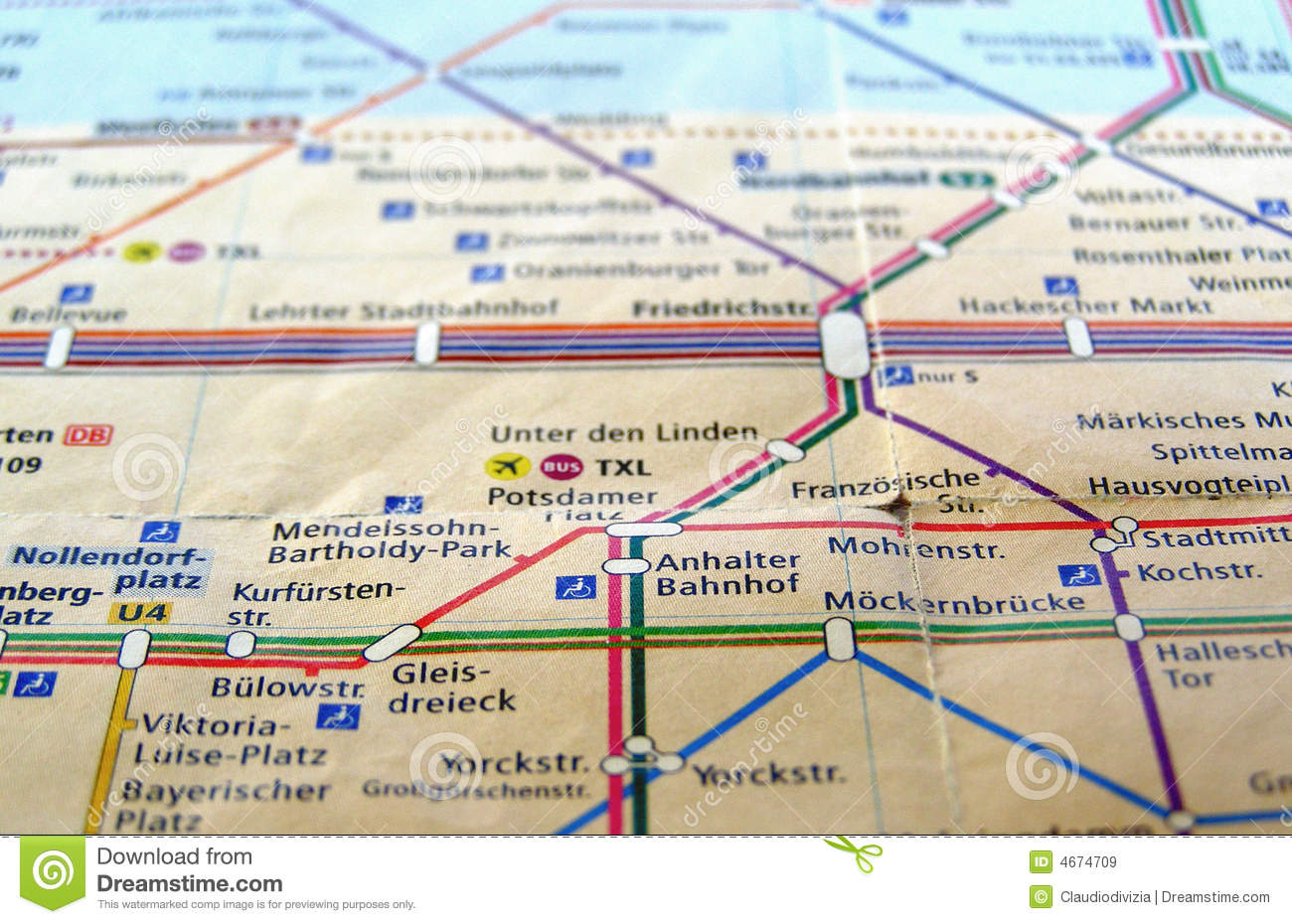 Berlin UBahn Map Royalty Free Stock Images Image - Berlin us bahn map