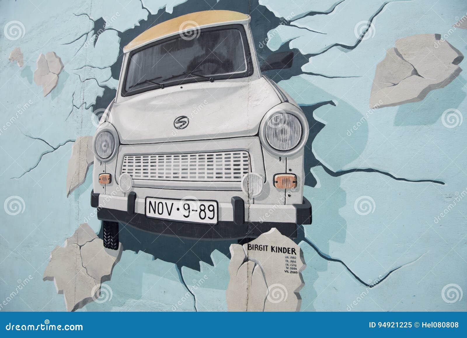 Berlin väggen, målning, galleri för östlig sida