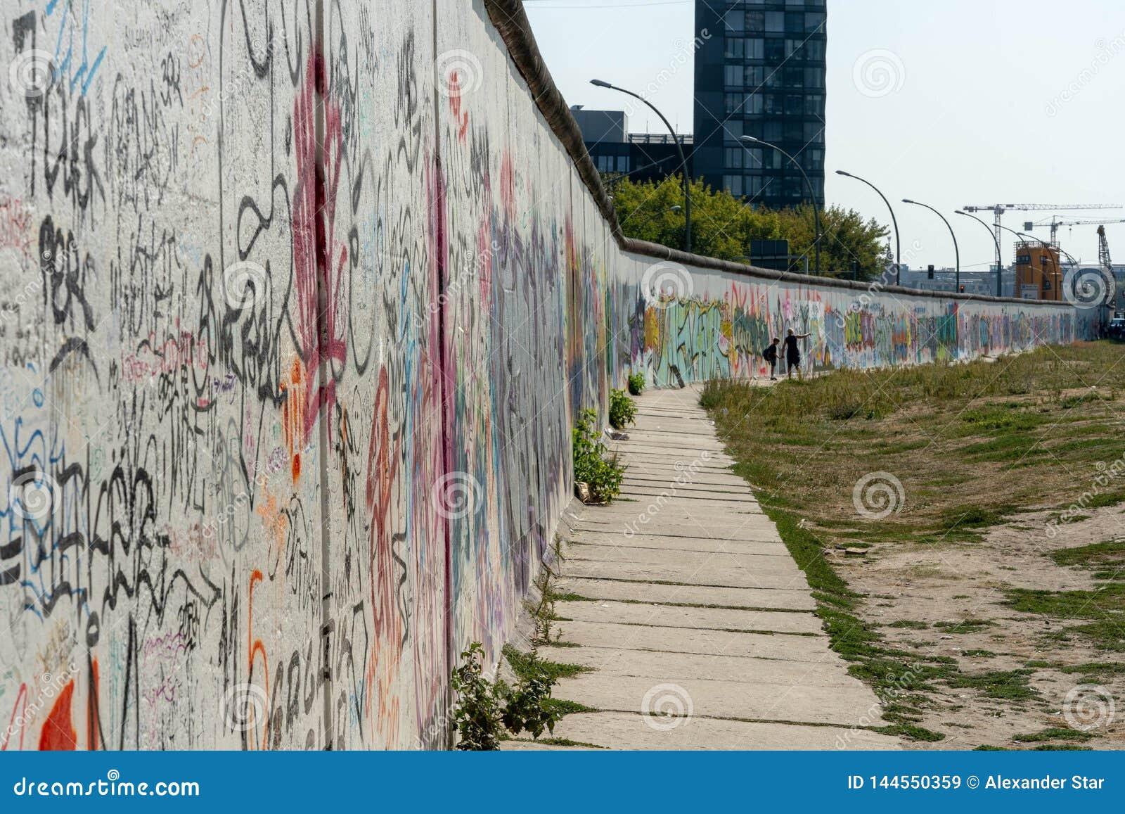 Berlin Wall street art on the wall